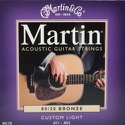 JEU de Cordes pour Guitare MARTIN FOLK Bronze Custom light - 11-52 - laflutedepan.com