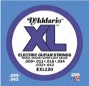 JEU de 6 Cordes EXL120 D'ADDARIO - Super Light 009-42 - Guitare Electrique - laflutedepan.com