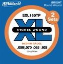 JEU de Cordes D'ADDARIO pour Guitare Basse EXL160 RW 50/105 Medium laflutedepan.com