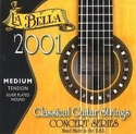 JEU de Cordes pour Guitare LA BELLA 2001 Classic – Medium Hard Tension laflutedepan.com