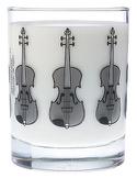 Verre avec motif violon Cadeaux - Musique Accessoire laflutedepan.com