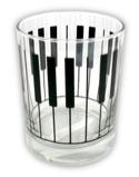 Verre avec motif clavier Cadeaux - Musique Accessoire laflutedepan.com