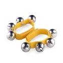 Bracelet jaune en nylon - 4 Grelots laflutedepan.com
