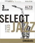 Anches D'Addario Woodwinds Select Jazz Filed Saxophone Alto Force 3 Médium (Boît laflutedepan.com