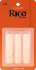 Anches Rico Clarinette Sib Force 2,5 (Boîte de 3) laflutedepan.com