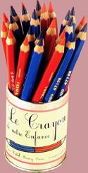 Crayon Rouge et Bleu - Papeterie Musicale - laflutedepan.com