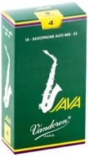 Boite de 10 anches VANDOREN série JAVA pour SAXOPHONE ALTO force 4 - laflutedepan.com