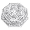 Petit Parapluie BLANC - Notes de Musique noires - laflutedepan.com