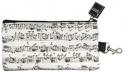 Trousse blanche notes de musique Cadeaux - Musique laflutedepan.be