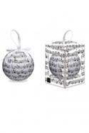 Boule de Noël Partition de musique Cadeaux - Musique laflutedepan.com