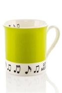 Mug - Tasse Verte Love music Cadeaux - Musique laflutedepan.com