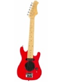 Guitare électrique enfant Rouge 77 cm laflutedepan.com