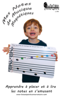 Tableau de notes de musique magnétiques Accessoire laflutedepan.com