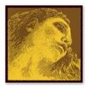 Corde : RÉ - EVAH PIRAZZI™ GOLD pour VIOLON - RÉ ARGENT à boule tirant MOYEN - laflutedepan.com