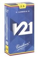 Vandoren CR8025 - Anches V21 Clarinette Si bémol 2.5 - laflutedepan.com