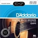 JEU de 6 Cordes EXP11NY D'ADDARIO - Light 12-53 - GUITARE FOLK - laflutedepan.com