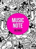 Cahier de Musique à spirale MIXTE : Portées et Petits Carreaux - MUSIC NOTE laflutedepan.com