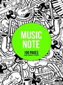 Cahier de Musique à spirale MIXTE : Portées et Grands Carreaux - MUSIC NOTE laflutedepan.com