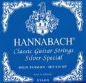 JEU de Cordes pour Guitare HANNABACH 815 Silver Special BLEU - Tension forte - laflutedepan.com