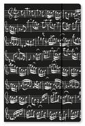 Grande chemise cartonnée avec élastique - NOIRE - Notes de musique - laflutedepan.com