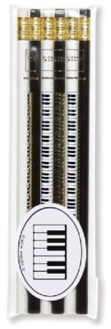 Set de 6 crayons - CLAVIER DE PIANO - laflutedepan.com