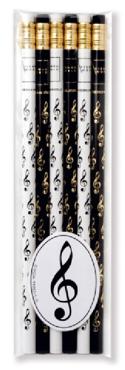 Set de 6 crayons - CLÉ DE SOL - Cadeaux - Musique - laflutedepan.com