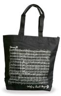 Sac Shopping - NOIR - MOZART Cadeaux - Musique laflutedepan.com
