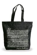 Sac Shopping - NOIR - BEETHOVEN Cadeaux - Musique laflutedepan.com