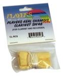 Ecouvillon chamois lesté PLAYERS pour CLARINETTE ou FLUTE à BEC laflutedepan.com