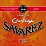 JEU de Cordes pour Guitare SAVAREZ CANTIGA CREATION ROUGE tirant standard - laflutedepan.com