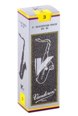 Anches pour Saxophone Ténor VANDOREN® - Box of 5 reeds VANDOREN V12 series for SAXOPHONE TENOR force 3 - Accessory - di-arezzo.com