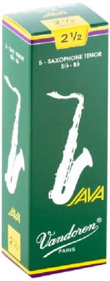 Anches pour Saxophone Ténor VANDOREN® - 5 VANDOREN reeds JAVA series for TENOR force 2,5 SAXOPHONE - Accessory - di-arezzo.com