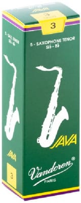 Anches pour Saxophone Ténor VANDOREN® - 5 VANDOREN reeds JAVA series for TENOR force 3 SAXOPHONE - Accessory - di-arezzo.com