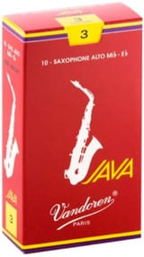 Anches pour Saxophone Alto VANDOREN® - Box of 10 reeds VANDOREN series JAVA RED for SAXOPHONE ALTO force 3 - Accessory - di-arezzo.co.uk