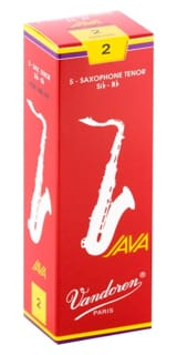 Anches pour Saxophone Ténor VANDOREN® - Box of 5 reeds VANDOREN series JAVA RED for SAXOPHONE TENOR force 2 - Accessory - di-arezzo.co.uk