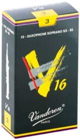 Anches pour Saxophone Soprano VANDOREN® - Boite de 10 anches VANDOREN série V16 pour SAXOPHONE SOPRANO force 3 - Accessoire - di-arezzo.fr