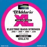 JEU de Cordes D'ADDARIO pour Guitare Basse EXL170 RW 45/100 Regular Light laflutedepan.com