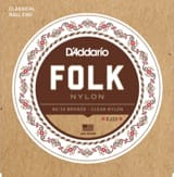 JEU de Cordes D'ADDARIO FOLK NYLON - Normal /Clair-Bronze 80/20 laflutedepan