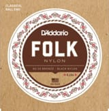 Cordes pour Guitare - ADDARIO FOLK NYLON String Set - Normal / Black-Bronze 80/20 - Accessory - di-arezzo.com