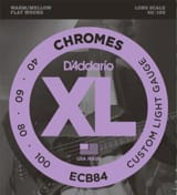 Cordes pour Guitare - D'Addario CDDECB84 4 String Set Chromes Custom Light Gauge for Bass Guitar - Accessory - di-arezzo.com