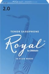 Anches pour Saxophone Ténor - D'Addario Rico Royal - Tenor Saxophone Reeds 2.0 - Accessory - di-arezzo.co.uk