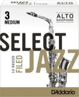 Anches pour Saxophone Alto - D'Addario Select Jazz Filed Alto Alto Saxophone Reeds - Accessory - di-arezzo.co.uk