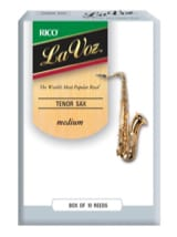 D'addario Rico La Voz - Anches Saxophone Ténor Médium laflutedepan.com