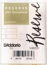 D'Addario Woodwinds DJR0230 Reserve - Anches Saxophone Alto 3.0 laflutedepan.com