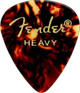 Médiators Fender Shape Classic Celluloid Heavy Shell pack de 12 forme 346 laflutedepan.com
