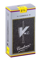 Anches pour Clarinette Sib VANDOREN® - Vandoren CR1925 - Reeds V12 Clarinet B flat 2.5 - Accessory - di-arezzo.co.uk