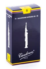 Anches pour Saxophone Soprano VANDOREN® - Vandoren SR205 - Sopran Saxophonblätter 5.0 - Musikzubehör - di-arezzo.de