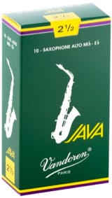 Anches pour Saxophone Alto VANDOREN® - Box of 10 reeds VANDOREN series JAVA for SAXOPHONE ALTO force 2,5 - Accessory - di-arezzo.co.uk