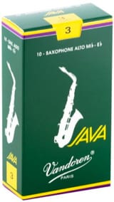 Anches pour Saxophone Alto VANDOREN® - Box of 10 reeds VANDOREN JAVA series for SAXOPHONE ALTO force 3 - Accessory - di-arezzo.co.uk