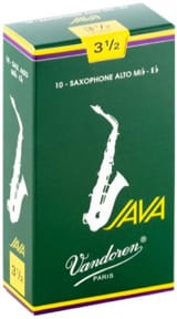 Anches pour Saxophone Alto VANDOREN® - Box of 10 reeds VANDOREN JAVA series for SAXOPHONE ALTO force 3,5 - Accessory - di-arezzo.co.uk
